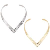 Kragen Halskette, Zinklegierung, plattiert, keine, frei von Blei & Kadmium, 13mm, Innendurchmesser:ca. 130mm, verkauft per ca. 16 ZollInch Strang