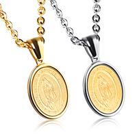 Edelstahl Schmuck Halskette, flachoval, plattiert, Oval-Kette & mit Brief Muster & für Frau, keine, 13x21mm, verkauft per ca. 17.7 ZollInch Strang