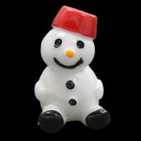 Weihnachten Cabochon, Harz, Schneemann, Weihnachtsschmuck & flache Rückseite, 13x20x15mm, 100PCs/Tasche, verkauft von Tasche