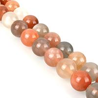 Mondstein Perlen, rund, verschiedene Größen vorhanden, Klasse AA, verkauft per ca. 14.5 ZollInch Strang