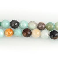 Amazonit Perlen, rund, natürlich, verschiedene Größen vorhanden & facettierte, Bohrung:ca. 1-1.5mm, verkauft per ca. 15.5 ZollInch Strang