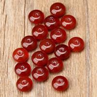 Spacer Perlen Schmuck, Roter Achat, Trommel, natürlich, 4x8mm, Bohrung:ca. 1mm, 80PCs/Strang, verkauft von Strang