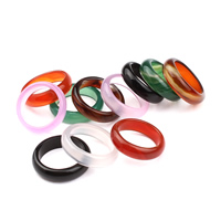 Achat Fingerring, natürliche & verschiedenen Materialien für die Wahl & verschiedene Größen vorhanden, frei von Nickel, Blei & Kadmium, verkauft von PC
