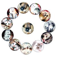 Glas Cabochon, flache Runde, Tier Design & Zeit Edelstein Schmuck & gemischtes Muster & verschiedene Größen vorhanden & flache Rückseite & Aufkleber, 20PCs/Tasche, verkauft von Tasche