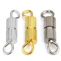 Messing Schraubschließe, plattiert, keine, frei von Nickel, Blei & Kadmium, 12x3mm, Bohrung:ca. 2mm, 50PCs/Tasche, verkauft von Tasche