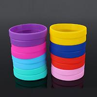 Silikon Armbänder, keine, frei von Nickel, Blei & Kadmium, 2x11mm, Länge:7.9 ZollInch, verkauft von PC