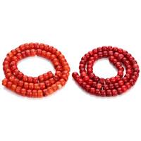 Natürliche Korallen Perlen, Rondell, keine, 6x8.5mm, Bohrung:ca. 1mm, ca. 65PCs/Strang, verkauft per ca. 15.5 ZollInch Strang