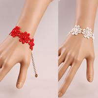 Gothic Armband, Spitze, mit Glasperlen & Zinklegierung, mit Verlängerungskettchen von 2.7lnch, plattiert, für Frau, keine, frei von Nickel, Blei & Kadmium, verkauft per ca. 5.5 ZollInch Strang