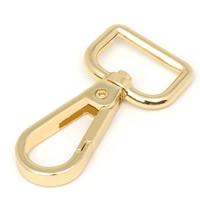 Zinklegierung Karabinerverschluss mit Drehgelenk, goldfarben plattiert, frei von Blei & Kadmium, 52.6mm, Bohrung:ca. 19.1mm, 50PCs/Tasche, verkauft von Tasche