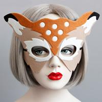 Fashion Party Maske, Filz, mit Satinband, Weihnachtsschmuck, 180mm, verkauft von PC