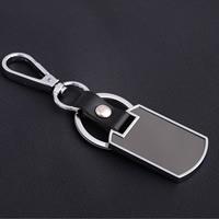 Zinklegierung Schlüssel Verschluss, mit Eisen Ring & Planke & PU Leder, Platinfarbe platiniert, gemischte Farben, frei von Blei & Kadmium, 108x28.50x4mm, verkauft von PC