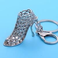 Zinklegierung Schlüssel Verschluss, mit Eisen Ring, Schuhe, Platinfarbe platiniert, hohl, frei von Blei & Kadmium, 46x40x18mm, Bohrung:ca. 25mm, verkauft von PC