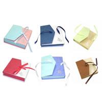 Schmuck Geschenkkarton, Karton, mit Satinband, Rechteck, gemischte Farben, 90x90x25mm, verkauft von PC