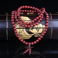 108 Mala Perlen, Pau Rosa, mit Nylonschnur, synthetisch, buddhistischer Schmuck & für Frau & 4-Strang, 8mm, 108PCs/Strang, verkauft per ca. 28 ZollInch Strang