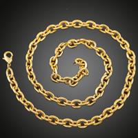 Messingkette Halskette, Messing, 18 K vergoldet, Oval-Kette & für den Menschen, frei von Blei & Kadmium, 9mm, verkauft per ca. 27.5 ZollInch Strang