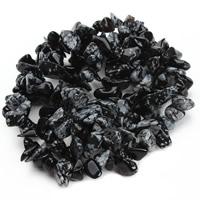Schneeflocke Obsidian, Klumpen, 8-12mm, Bohrung:ca. 1.5mm, ca. 76PCs/Strang, verkauft per ca. 31 ZollInch Strang