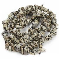 Dalmatinische Perlen, Dalmatiner, Klumpen, 8-12mm, Bohrung:ca. 1.5mm, ca. 76PCs/Strang, verkauft per ca. 31 ZollInch Strang