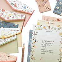 Papier Briefpapier-Umschlag-Set, Ohrring & Halskette, gemischte Farben, 165x82mm, 48x210mm, verkauft von setzen