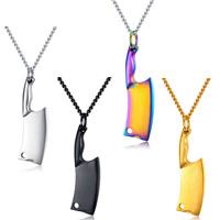 Männer Halskette, Edelstahl, SchwertKlinge, plattiert, Abbildung 8-Kette & für den Menschen, keine, frei von Nickel, Blei & Kadmium, 47mm, verkauft per ca. 22.4 ZollInch Strang