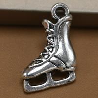 Zinklegierung Schuhe Anhänger, antik silberfarben plattiert, frei von Blei & Kadmium, 17x13mm, Bohrung:ca. 1.5mm, 100PCs/Tasche, verkauft von Tasche