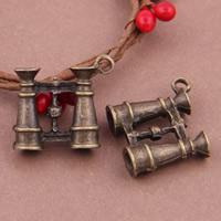 Zinklegierung Werkzeug Anhänger, Teleskop, antike Bronzefarbe plattiert, frei von Blei & Kadmium, 23x21mm, Bohrung:ca. 1-1.5mm, 30PCs/Tasche, verkauft von Tasche