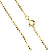 Messingkette Halskette, Messing, 24 K vergoldet, Kugelkette & für den Menschen, frei von Nickel, Blei & Kadmium, 1.50mm, verkauft per ca. 17.5 ZollInch Strang