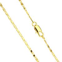 Messingkette Halskette, Messing, 24 K vergoldet, für den Menschen, frei von Nickel, Blei & Kadmium, 5x2x1mm, verkauft per ca. 23.5 ZollInch Strang