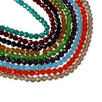 Rondell Kristallperlen, Kristall, facettierte, mehrere Farben vorhanden, 6mm, Bohrung:ca. 1mm, Länge:ca. 21 ZollInch, 10SträngeStrang/Tasche, ca. 99PCs/Strang, verkauft von Tasche