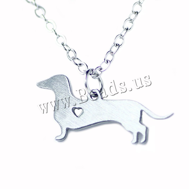 Buy Stainless Steel Jewelry Necklace 5cm extender chain Dog oval chain original color 11x25mm Sold Per Approx 20.5 Inch Strand