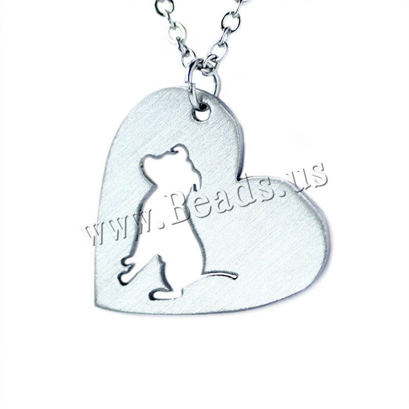 Buy Stainless Steel Jewelry Necklace 5cm extender chain Heart oval chain original color 22x25mm Sold Per Approx 20.5 Inch Strand