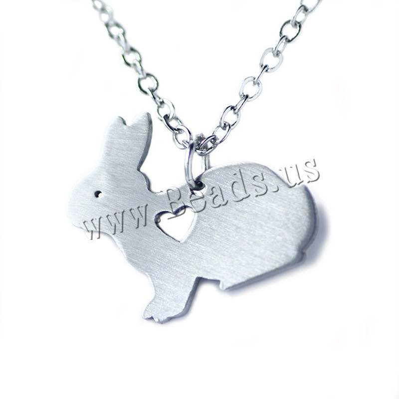 Buy Stainless Steel Jewelry Necklace 5cm extender chain Rabbit oval chain original color 24x20mm Sold Per Approx 20.5 Inch Strand