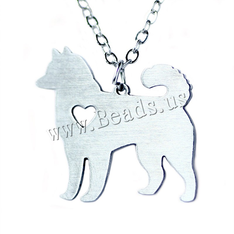 Buy Stainless Steel Jewelry Necklace 5cm extender chain Dog oval chain original color 25x24mm Sold Per Approx 20.5 Inch Strand