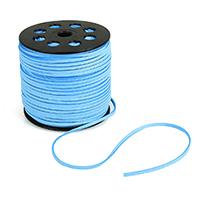 Wollschnur, mit Kunststoffspule, blau, 2.5mm, ca. 100HofHof/Menge, verkauft von Menge