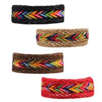 Kette gewebte Armbänder, Hanfgarn, einstellbar & für Frau, keine, frei von Nickel, Blei & Kadmium, 25mm, verkauft per ca. 7.4 ZollInch Strang