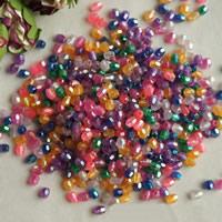 Plattierte Acrylperlen, Acryl, Kegel, bunte Farbe plattiert, verschiedene Größen vorhanden & facettierte, Bohrung:ca. 1mm, 500G/Tasche, verkauft von Tasche