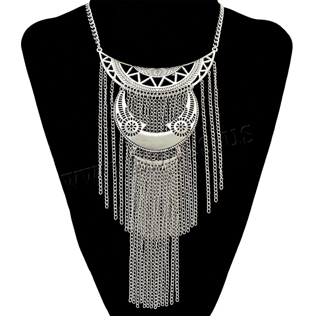 Buy Fashion Fringe Necklace Zinc Alloy 3.1lnch extender chain plated twist oval chain & woman nickel lead & cadmium free 240mm Sold Per Approx 16.1 Inch Strand