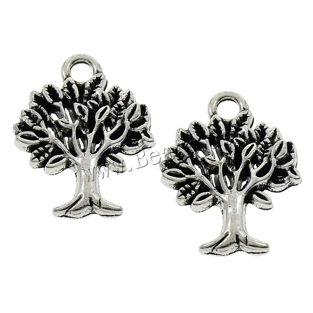 Buy Tree Life Pendants Zinc Alloy antique silver color plated lead & cadmium free 17x22x2mm Hole:Approx 2mm 500PCs/Bag Sold Bag