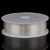 Kristall Faden, mit Kunststoffspule, elastisch, weiß, 0.6mm, 10Spulen/Tasche, verkauft von Tasche