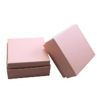 Karton Schmuckset Kasten, Fingerring & Ohrring & Halskette, mit Schwamm, Quadrat, verschiedene Muster für Wahl, 73x73x35mm, 100PCs/Menge, verkauft von Menge