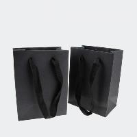 Mode Geschenkbeutel, Karton, Rechteck, verschiedene Größen vorhanden, schwarz, 100PCs/Menge, verkauft von Menge