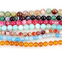 Achat Perlen, rund, verschiedene Größen vorhanden, keine, verkauft per ca. 15.5 ZollInch Strang