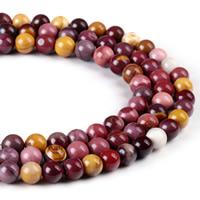 Dotter Stein Perlen, rund, verschiedene Größen vorhanden, Bohrung:ca. 1mm, verkauft per ca. 15 ZollInch Strang