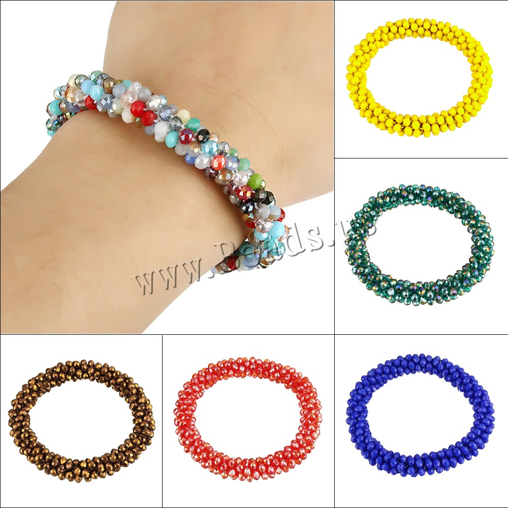 Crystal Bracelets faceted colors choice 3x4mm Sold Per Approx 6 Inch Strand