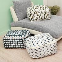 Baumwollgewebe Organisator, Rechteck, verschiedene Muster für Wahl, 530x430x270mm, 2PCs/Menge, verkauft von Menge