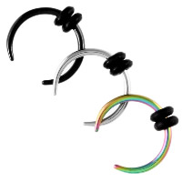 Edelstahl Hufeisen Piercing, mit Silikon, plattiert, unisex & verschiedene Größen vorhanden, keine, verkauft von PC