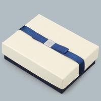 Karton Schmuckset Kasten, Fingerring & Halskette, mit Satinband, Rechteck, 93x70x28mm, 10PCs/Menge, verkauft von Menge
