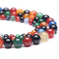 Natürliche Regenbogen Achat Perlen, rund, verschiedene Größen vorhanden, Bohrung:ca. 1mm, verkauft per ca. 15 ZollInch Strang