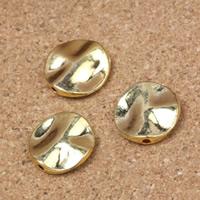Zinklegierung flache Perlen, flache Runde, plattiert, keine, frei von Nickel, Blei & Kadmium, 11x13x3mm, Bohrung:ca. 1mm, 100PCs/Menge, verkauft von Menge