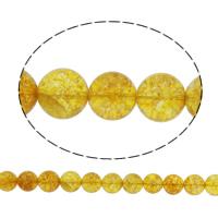 Natürlicher Citrin Perlen, Gelbquarz Perlen, rund, November Birthstone & verschiedene Größen vorhanden & Knistern, Bohrung:ca. 1mm, verkauft per ca. 15 ZollInch Strang
