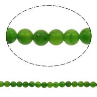 Natürlicher Quarz Perlen Schmuck, Grüner Quarz, rund, 4mm, Bohrung:ca. 1mm, ca. 100PCs/Strang, verkauft per ca. 16 ZollInch Strang